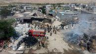 آتش سوزی گسترده انبار ضایعات در کنگان