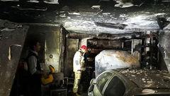 آتش سوزی تعمیرگاه خودرو در بلوار تیموری