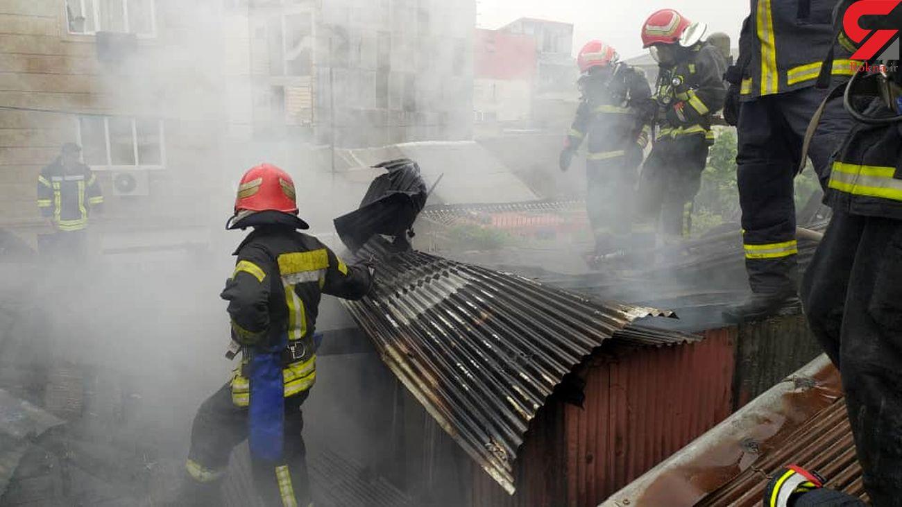 مرد 72 ساله در شعله های آتش /به همراه فیلم و عکس