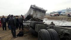 مرگ 2 راننده کامیون در محورهای سمنان