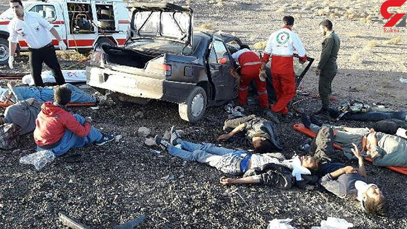 10 مرد در پژو 405 مچاله شدند / در بم رخ داد