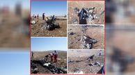 اولین عکس از صحنه سقوط مرگبار  هواپیمای خصوصی در گرمسار + جزییات