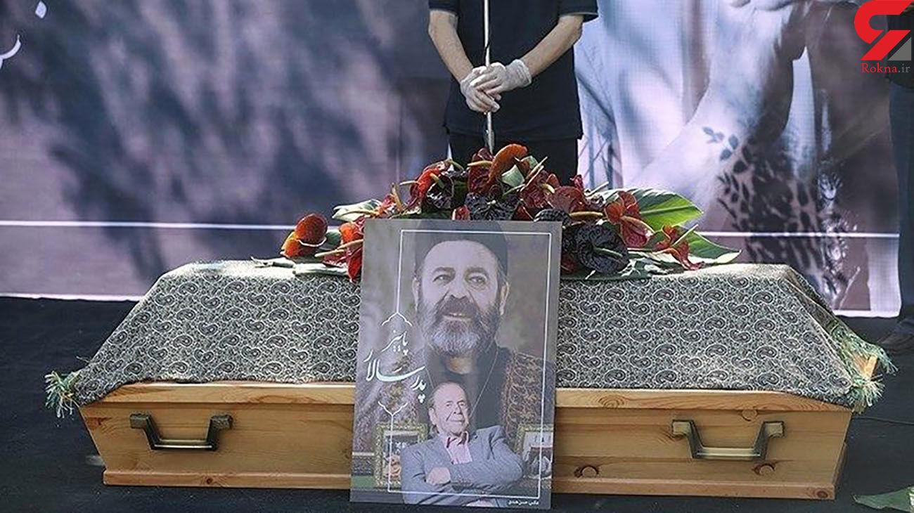 تشییع و خاکسپاری محمد علی کشاورز  پدر سالار سینمای ایران + فیلم و عکس