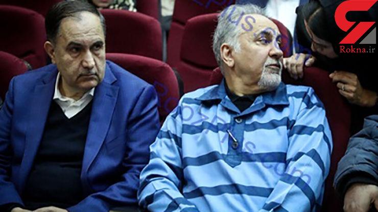 درگوشی حرف زدن دختر و داماد شهردار سابق تهران در جلسه دادگاه+ عکس