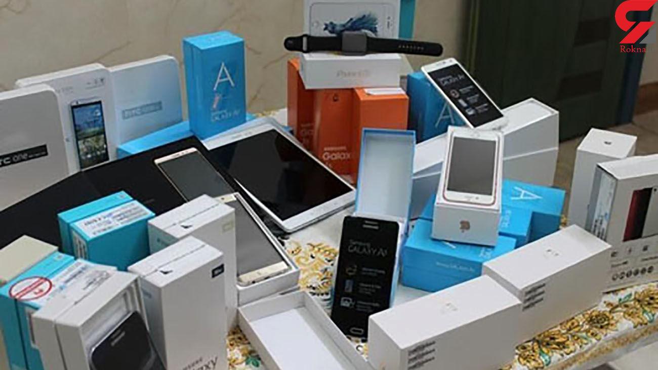 کشف انواع گوشی موبایل قاچاق در مهاباد