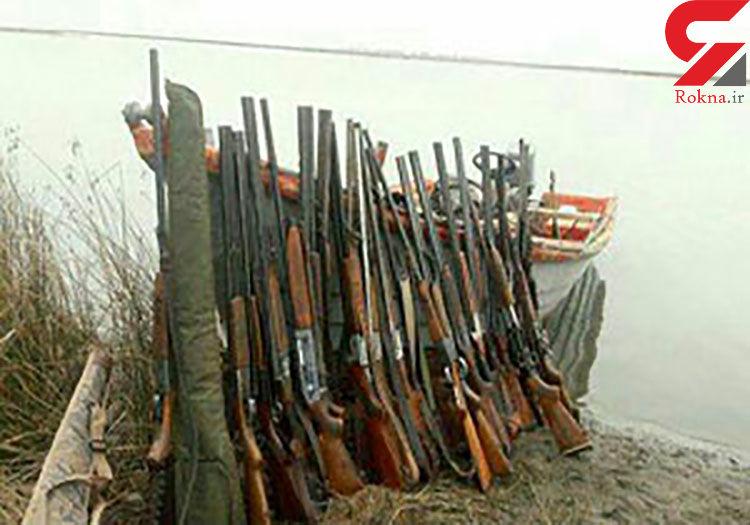 کشف سلاح های شکاری  غیرمجاز در مازندران