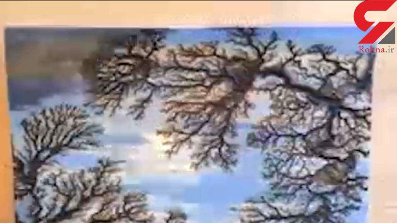 خلق نقاشی با سوزاندن چوب! + فیلم