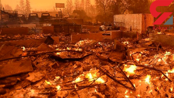 تصاویری باورنکردنی از بزرگترین آتش سوزی سال! + جزییات