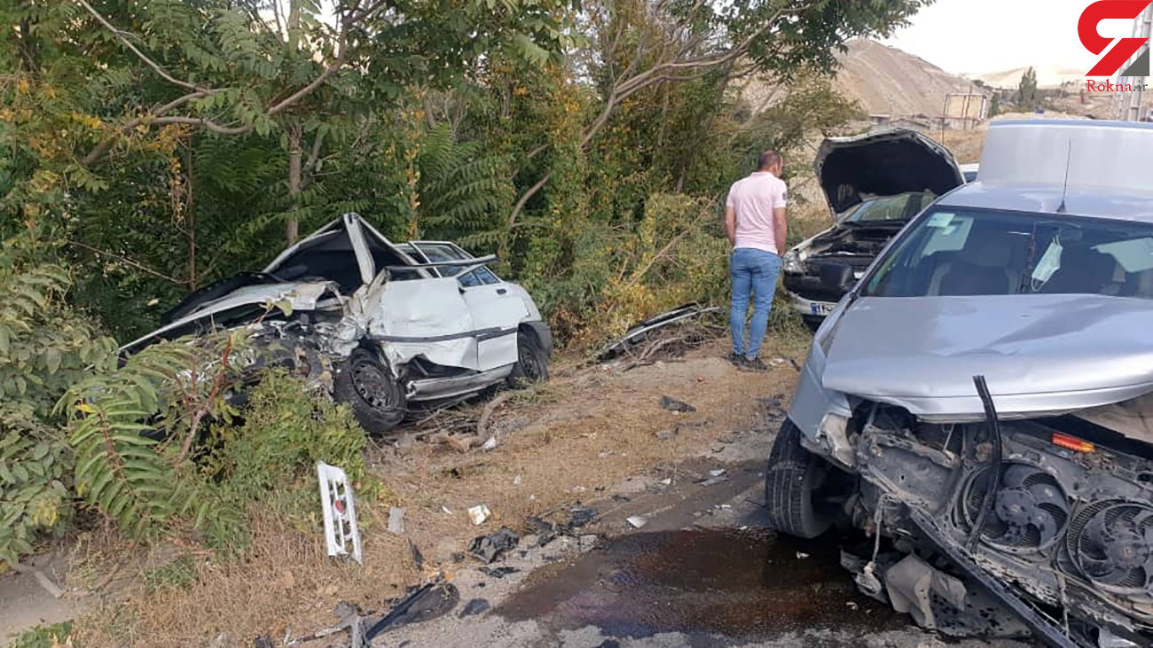 تصادف زنجیره ای ۳ خودرو در جاده کیلان – ایوانکی