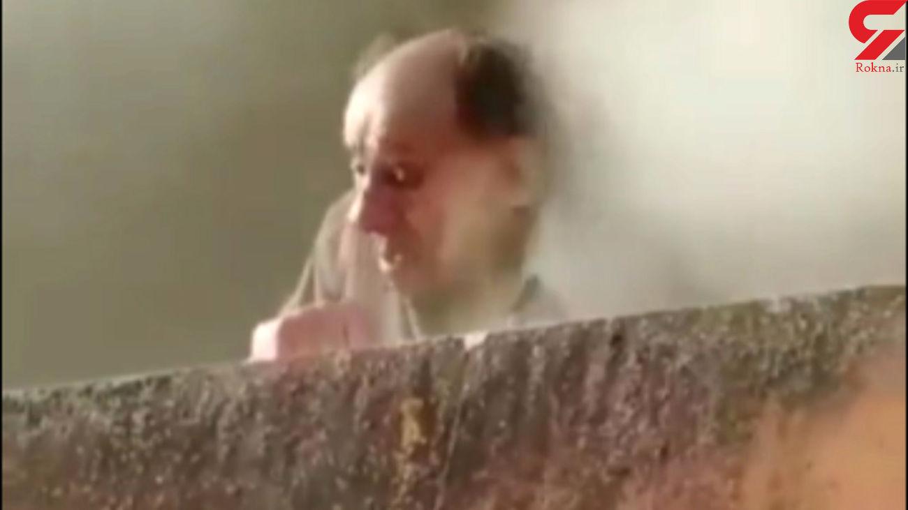 فیلم هولناک از نجات یک مرد از میان شعلههای آتش / پاریس