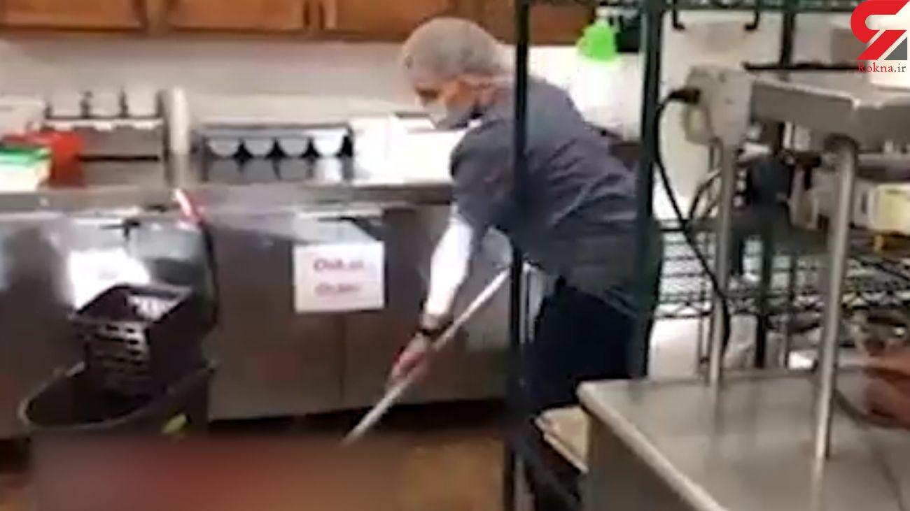 این دختر به خاطر عشق به پدرش نظافتچی شد ! + فیلم و عکس