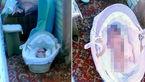 مادر سنگدل، کودک ۳ ماهه خود را در سرمای شدید رها کرد+عکس