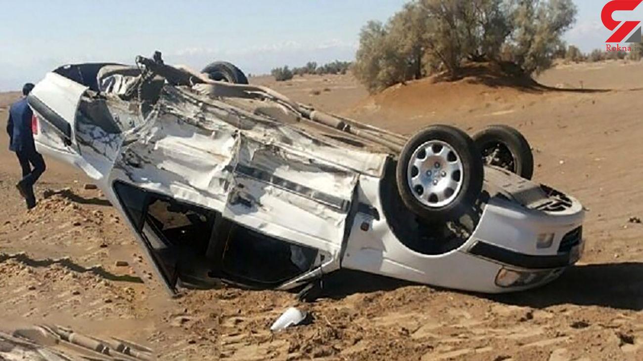 واژگونی مرگبار در سمنان / یک کشته و 3 زخمی