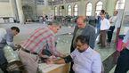 تصویر مدیر عامل بهشت زهرا(س) در حال اهداء خون