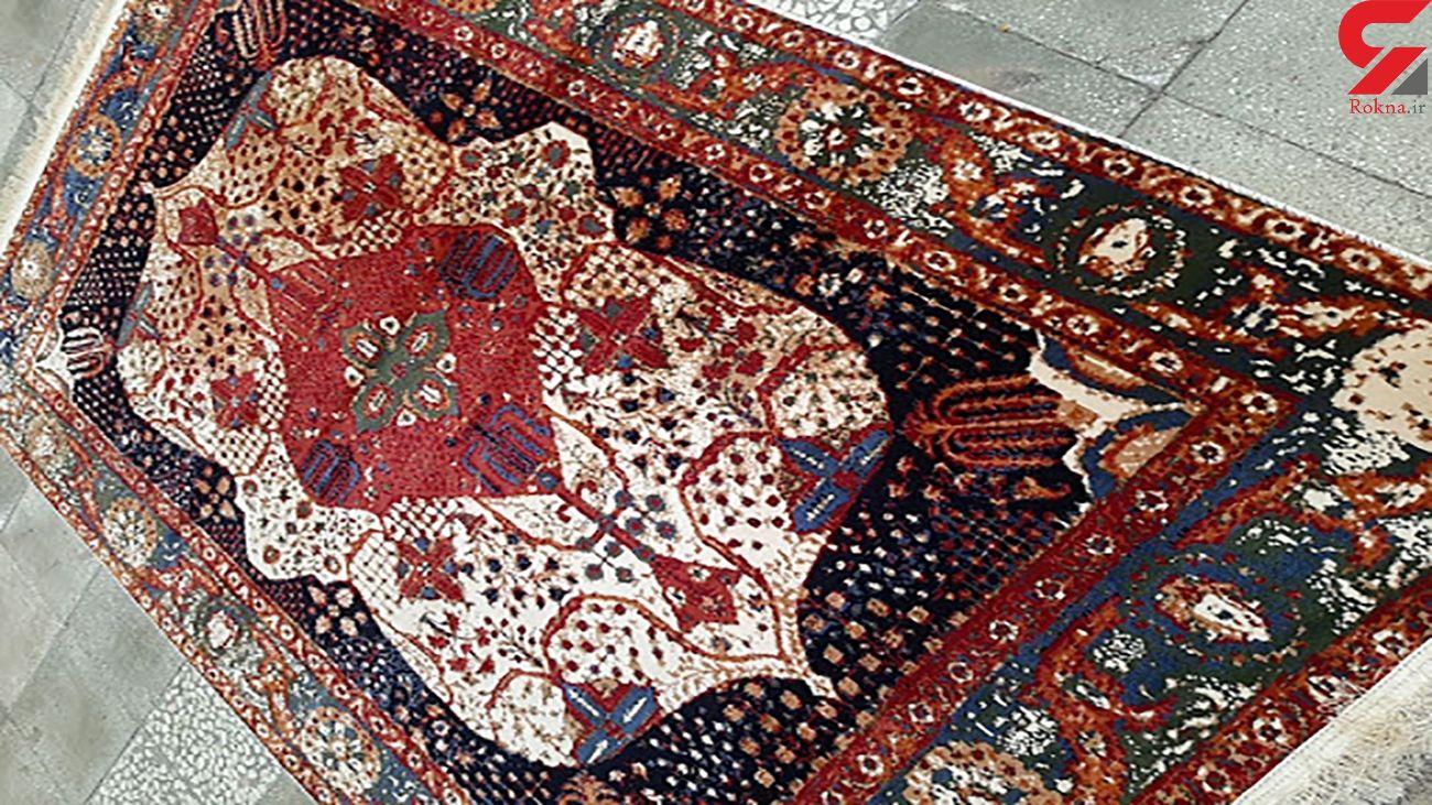 خاکی ترین فرش جهان هنگام خانه تکانی + فیلم