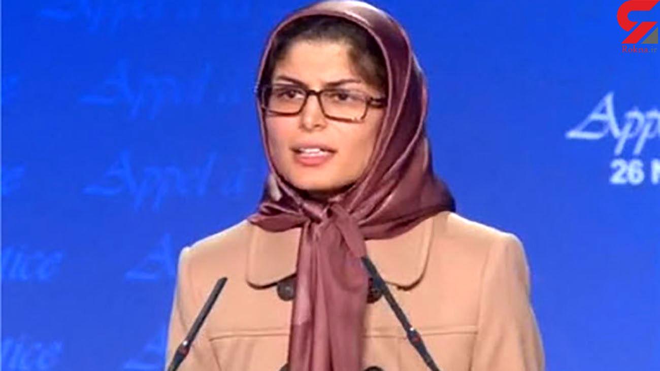 شبنم مددزاده به گروهک تروریستی منافقین پیوست / او خود را در آغوش مریم رجوی جای داد + عکس