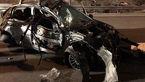 این آهن پاره قبلا پژو 206 بود !؟ / یک زن درون آن کشته شد+ تصاویر