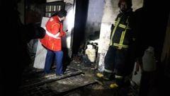 مردی در خانه آتشین کاملا سوخت!