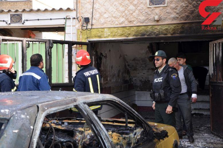 انفجار در پارکینگ خانه ای در خمین / سوخت گیری غیراصولی