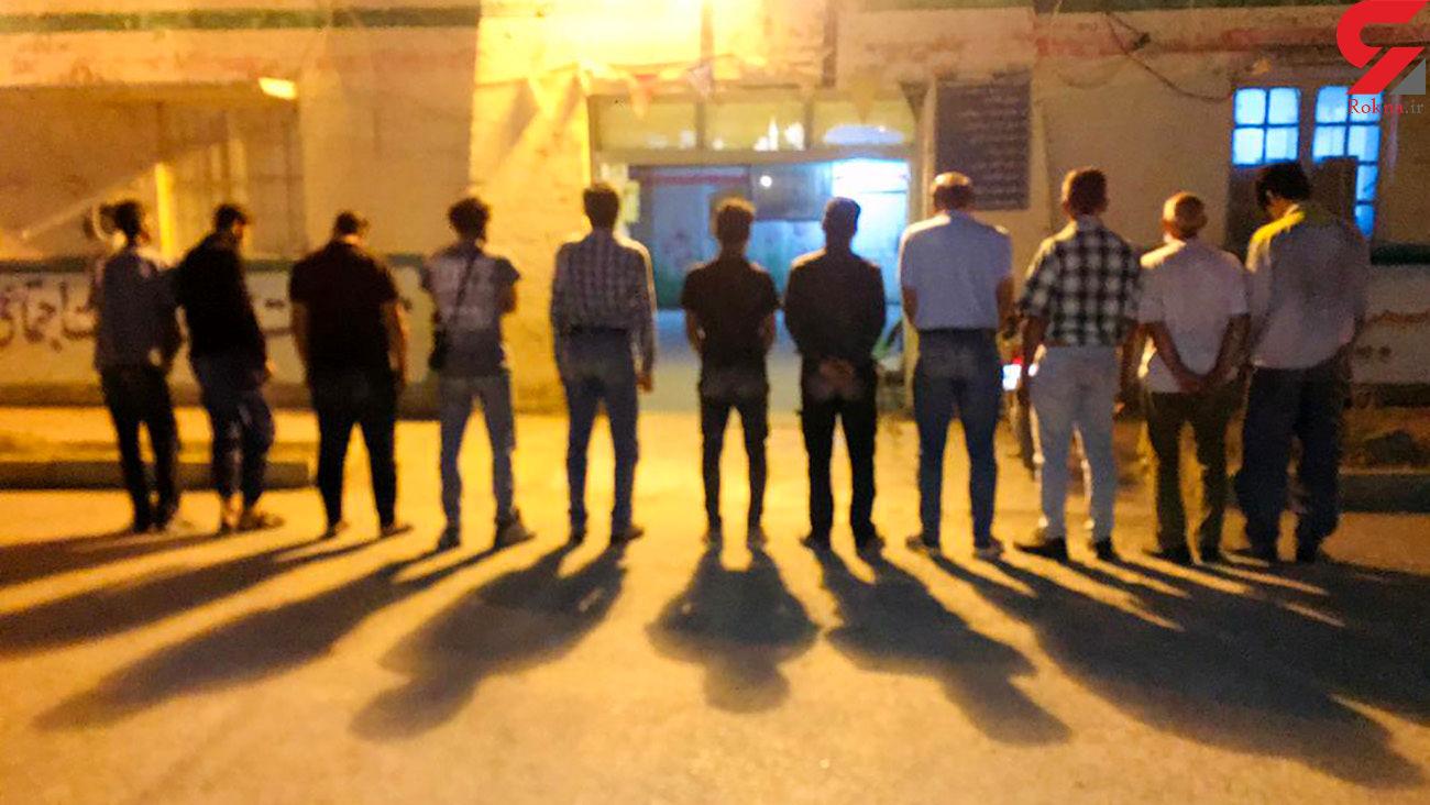 اجرای طرح ارتقاء امنیت اجتماعی و دستگیری 11 سارق حرفهای در آبادان + عکس