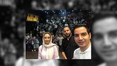 سلفی محسن یگانه با بهاره افشاری در سینما +عکس