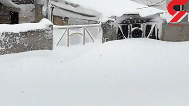 تصاویری عجیب اما واقعی؛ خلخال دفن در برف