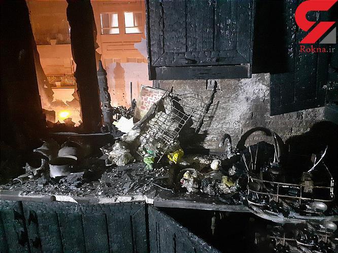 انفجار در خیابان دماوند / صاحبخانه جوان از ترس شوکه شد + عکس