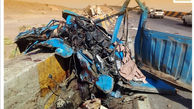 مرگ راننده زرندی در تصادف با دهانه پل