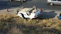مرگ تلخ راننده تیبا در لغزندگی جاده مرگ در اسدآباد