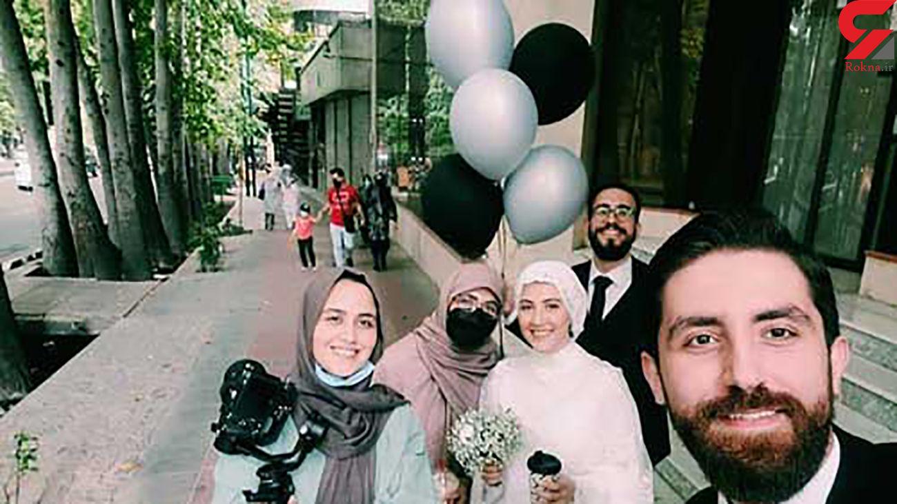 جنجال سازی عروس و داماد تهرانی در خیابان ولیعصر + عکس ها
