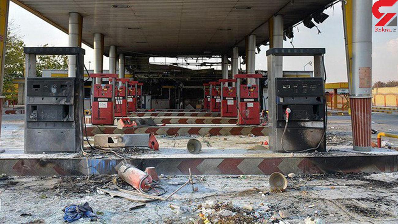 فیلم آتش گرفتن پمپ بنزین باغملک در منطقه مسکونی