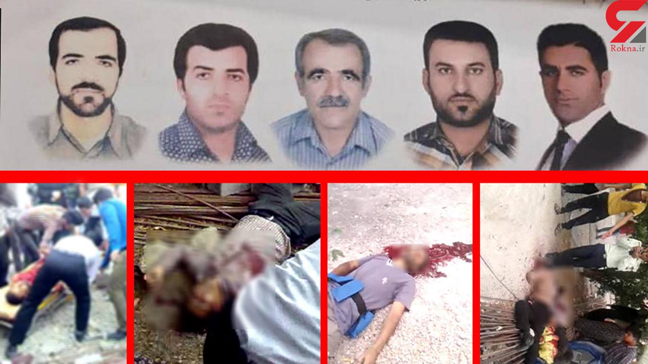 فیلم قتل عام 5 مرد در رامهرمز / مرگ 2 قاتل با گلوله پلیس + صوت گفتگو
