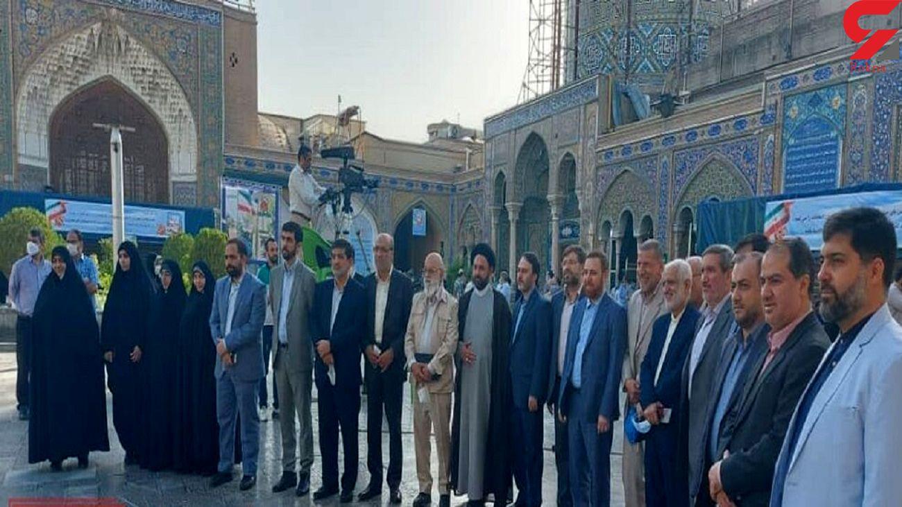 فیلم رای دادن اعضای لیست تهران سربلند در حرم حضرت عبدالعظیم (ع) شهر ری