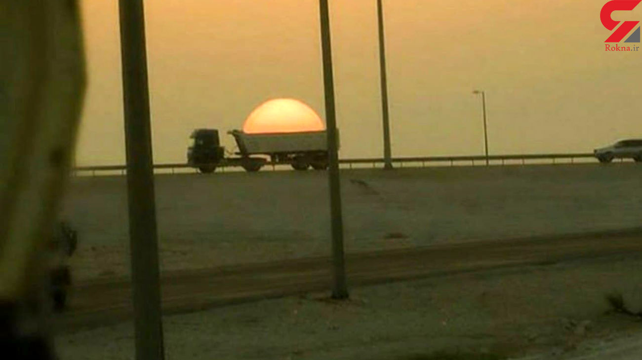 حمل خورشید توسط یک کامیون + عکس