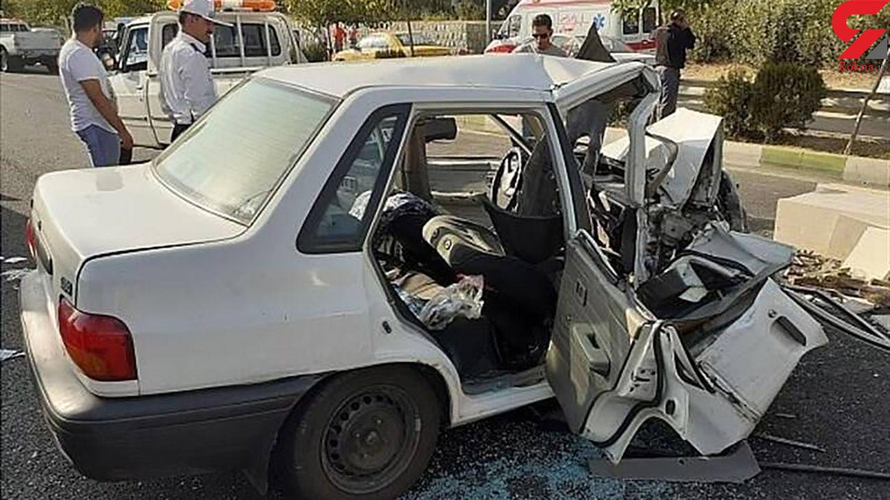 یک کشته و 3 مصدوم در تصادف مرگبار زنجان