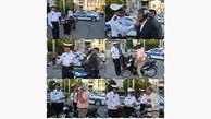 اهداء کلاه ایمنی رایگان به موتورسواران در بوشهر
