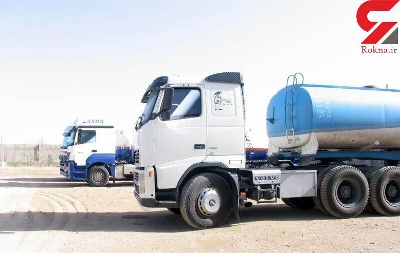 توقیف تانکر حامل ۳۰ هزار لیتر سوخت قاچاق در یزد