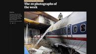 این عکس از سقوط هواپیمای ارتش ایران جهانی شد!