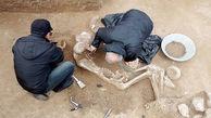 اسکلت یک انسان مهم در گیلان کشف شد +عکس