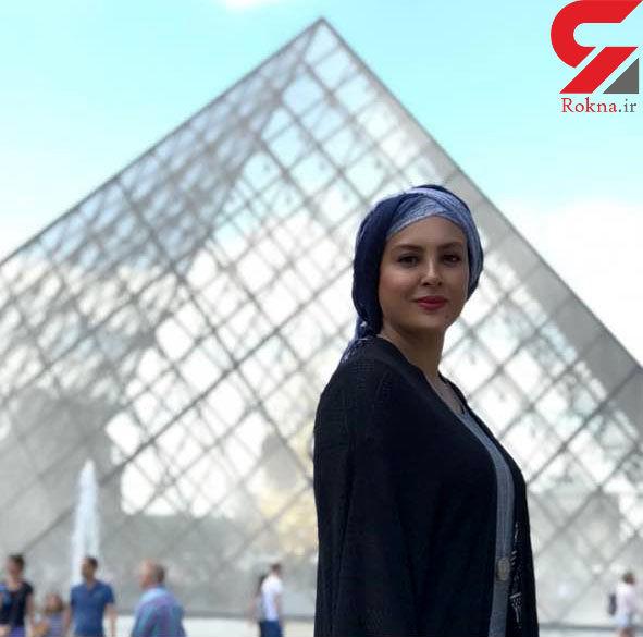 پوشش متفاوت بازیگر زن ایرانی در موزه لوور + عکس