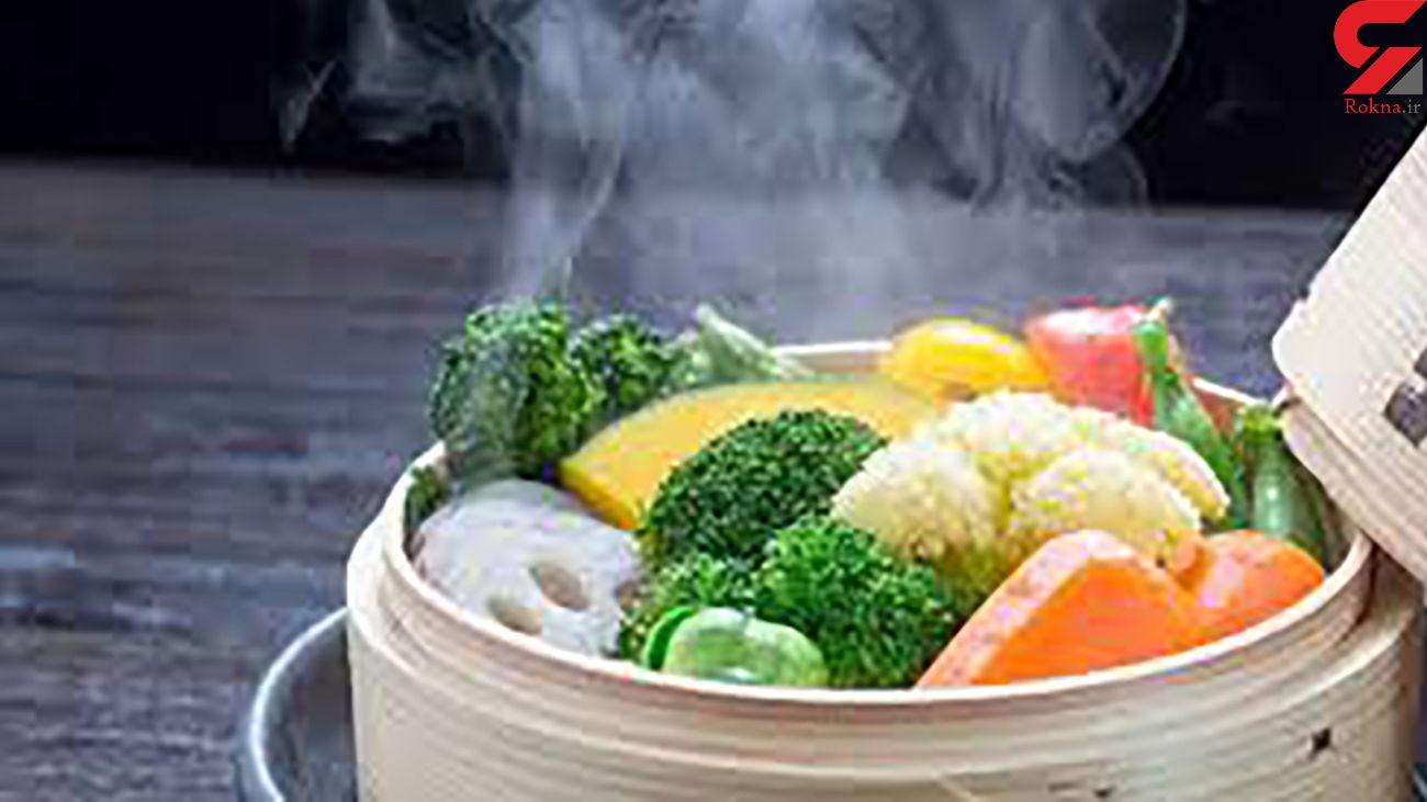 بمب سلامتی با غذاهای بخارپز