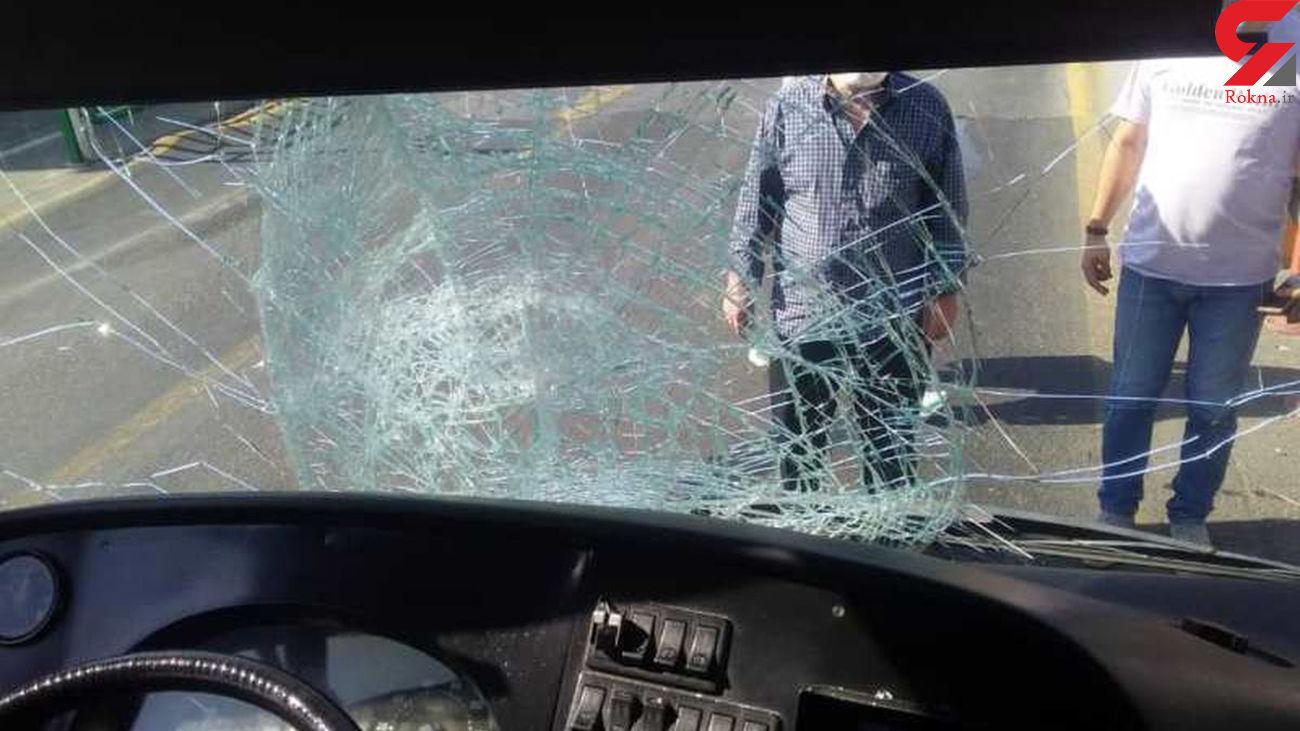اتوبوس بی آر تی مرد تهرانی را له کرد / ضربه سر شدید بود + عکس