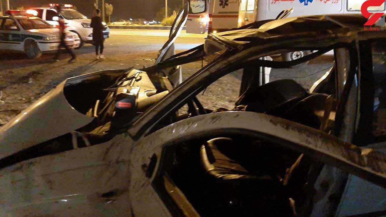 واژگونی خودرو پژو ۲۰۶ دو نفر را راهی بیمارستان کرد