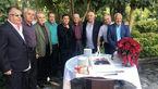 فوتبالیها در جشن تولد 78 سالگی یاوری