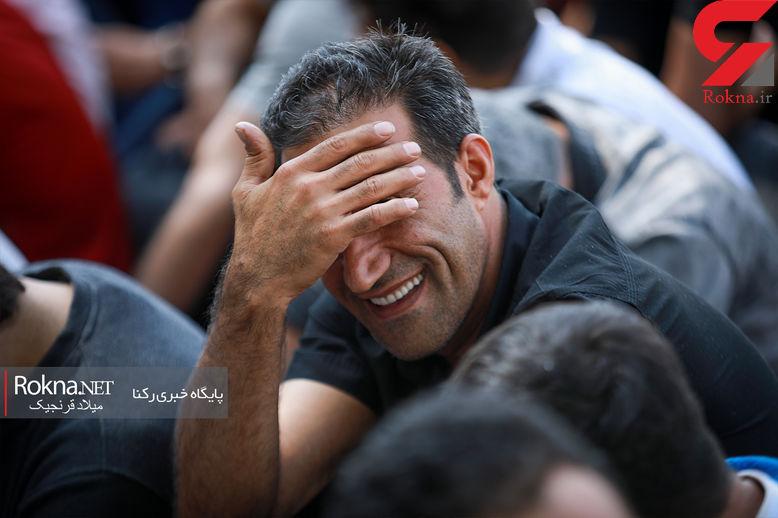 خنده های عجیب یک گنده لات تهرانی بعد از بازداشت + عکس