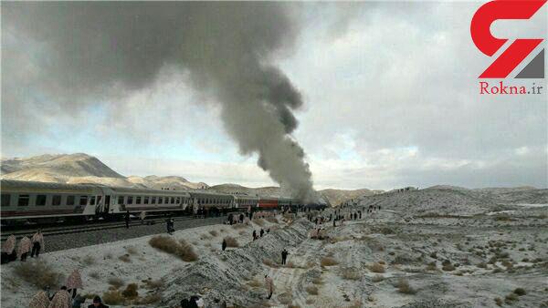 قطار تبریز-مشهد پس از سانحه همچنان در حال حرکت است