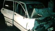مرگ دلخراش راننده پراید در برخورد با گاردریل در قزوین