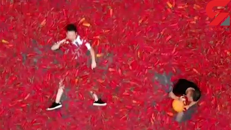 فستیوال سالیانه فلفل قرمز در چین +فیلم