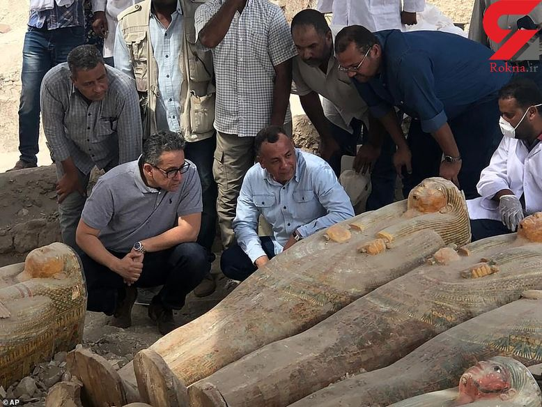 کشف 20 تابوت مومیایی در مصر + عکس