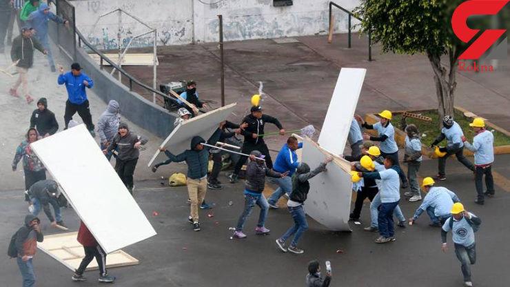 درگیری شدید بر سر پارکینگ ورزشگاه! + عکس